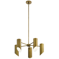 Kichler 52160NBR Trentino 5 Light 26 inch Natural Brass Chandelier Ceiling Light Medium