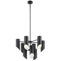 Kichler 52162BK Trentino 9 Light 26 inch Black Chandelier Ceiling Light 2 Tier