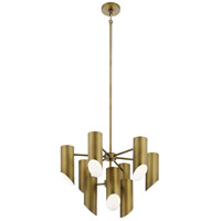Kichler 52162NBR Trentino 9 Light 26 inch Natural Brass Chandelier Ceiling Light 2 Tier