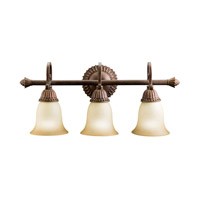 Kichler Lighting Larissa 3 Light Bath Vanity in Tannery Bronze w/ Gold Accent 5216TZG