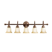 Kichler Lighting Larissa 5 Light Bath Vanity in Tannery Bronze w/ Gold Accent 5217TZG