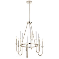 Kichler 52209PN Kadas 6 Light 30 inch Polished Nickel Chandelier Ceiling Light Large