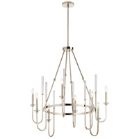 Kichler 52210PN Kadas 8 Light 36 inch Polished Nickel Chandelier Ceiling Light Large