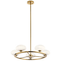 Kichler 52223FXG Pim 6 Light 28 inch Fox Gold Chandelier Ceiling Light 1 Tier Medium
