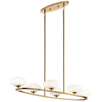 Kichler 52224FXG Pim 6 Light 18 inch Fox Gold Chandelier Pendant Ceiling Light Oval