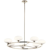 Kichler 52225PN Pim 7 Light 36 inch Polished Nickel Chandelier Ceiling Light 1 Tier Large