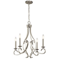 Kichler 52239NI Ania 4 Light 23 inch Brushed Nickel Chandelier Ceiling Light 1 Tier Small