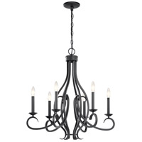 Kichler 52240BK Ania 6 Light 26 inch Black Chandelier Ceiling Light Medium