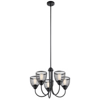Kichler 52269BK Voclain 5 Light 24 inch Black Chandelier Ceiling Light 1 Tier Medium