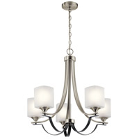 Kichler 52276NI Tula 5 Light 25 inch Brushed Nickel Chandelier Ceiling Light Medium
