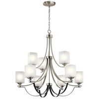 Kichler 52277NI Tula 9 Light 34 inch Brushed Nickel Chandelier Ceiling Light 2 Tier