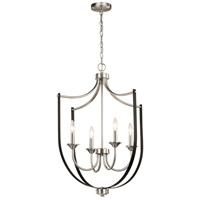 Kichler 52279NI Tula 4 Light 24 inch Brushed Nickel Chandelier Foyer Ceiling Light