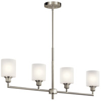 Kichler 52285NI Lynn Haven 4 Light 5 inch Brushed Nickel Chandelier Linear (Single) Ceiling Light