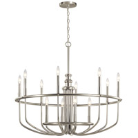 Kichler 52305NI Capitol Hill 12 Light 35 inch Brushed Nickel Chandelier Ceiling Light, Large photo thumbnail