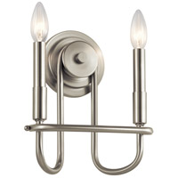 Kichler 52308NI Capitol Hill 2 Light 10 inch Brushed Nickel Wall Bracket Wall Light photo thumbnail