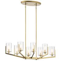 Kichler 52315BNB Nye 8 Light 17 inch Brushed Natural Brass Chandelier Oval Pendant Ceiling Light