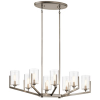 Kichler 52315CLP Nye 8 Light 17 inch Classic Pewter Chandelier Pendant Ceiling Light Oval