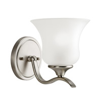 Kichler 5284NI Wedgeport 1 Light 6 inch Brushed Nickel Wall Sconce Wall Light in Satin Etched Glass