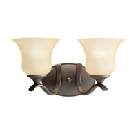Kichler 5285OZ Wedgeport 2 Light 15 inch Olde Bronze Bath Vanity Wall Light
