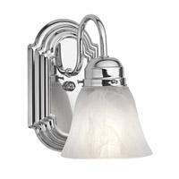 Kichler 5334CH Signature 1 Light 5 inch Chrome Bath Vanity Wall Light photo thumbnail