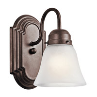 Kichler 5334TZ Signature 1 Light 5 inch Tannery Bronze Bath Vanity Wall Light photo thumbnail