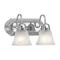 Kichler 5336CH Signature 2 Light 12 inch Chrome Bath Vanity Wall Light photo thumbnail