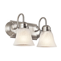 Kichler Lighting Signature 2 Light Bath Vanity in Brushed Nickel 5336NI