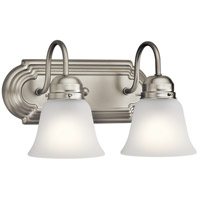Signature 2 Light 12 inch Brushed Nickel Vanity Light Wall Light, 2 Arm