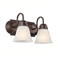 Signature 2 Light 12 inch Tannery Bronze Bath Vanity Wall Light