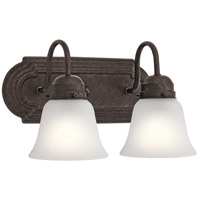 Signature 2 Light 12 inch Tannery Bronze Vanity Light Wall Light, 2 Arm
