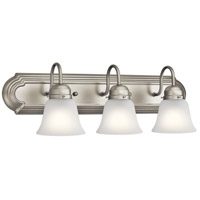 Signature 3 Light 24 inch Brushed Nickel Vanity Light Wall Light, 3 Arm