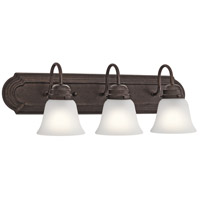 Kichler 5337TZS Signature 3 Light 24 inch Tannery Bronze Vanity Light Wall Light 3 Arm