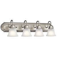 Kichler 5338NIS Signature 4 Light 30 inch Brushed Nickel Vanity Light Wall Light, 4 Arm
