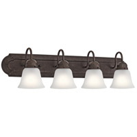 Signature 4 Light 30 inch Tannery Bronze Vanity Light Wall Light, 4 Arm