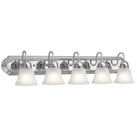 Kichler 5339CHS Signature 5 Light 36 inch Chrome Vanity Light Wall Light, 5 Arm