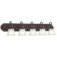 Signature 5 Light 36 inch Tannery Bronze Vanity Light Wall Light, 5 Arm