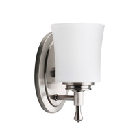 Wharton 1 Light 5 inch Brushed Nickel Bath Vanity Wall Light