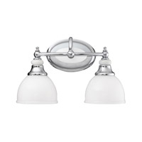 Pocelona 2 Light 15 inch Chrome Bath Vanity Wall Light
