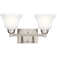Langford 2 Light 18 inch Brushed Nickel Bath Vanity Wall Light