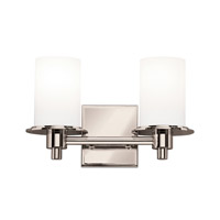 Kichler 5437PN Cylinders 2 Light 13 inch Polished Nickel Bath Vanity Wall Light