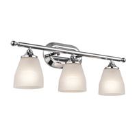 Kichler 5448CH Ansonia 3 Light 23 inch Chrome Wall Mt Bath 3 Arm Wall Light