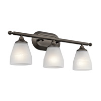 Kichler Ansonia 3 Light Wall Mt Bath 3 Arm in Olde Bronze 5448OZ