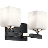 Kichler 55001BK Marette 2 Light 14 inch Black Vanity Light Wall Light