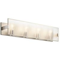 Kichler 55008SN Logan 4 Light 31 inch Satin Nickel Linear Bath Wall Light Xlarge