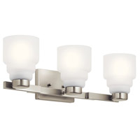 Kichler 55012NI Vionnet 3 Light 24 inch Brushed Nickel Vanity Light Wall Light in Satin Etched Glass