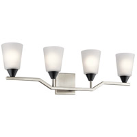 Kichler 55030NI Skagos 4 Light 33 inch Brushed Nickel Vanity Light Wall Light