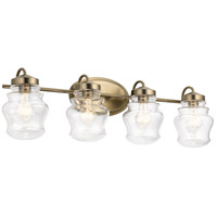 Kichler 55040CLZ Janiel 4 Light 33 inch Classic Bronze Vanity Light Wall Light