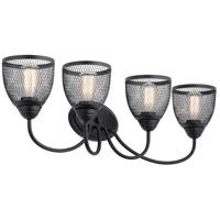 Kichler 55044BK Voclain 4 Light 32 inch Black Vanity Light Wall Light