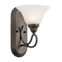 Kichler 5556OZ Stafford 1 Light 8 inch Olde Bronze Wall Sconce Wall Light