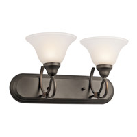 Kichler 5557OZ Stafford 2 Light 18 inch Olde Bronze Bath Vanity Wall Light photo thumbnail